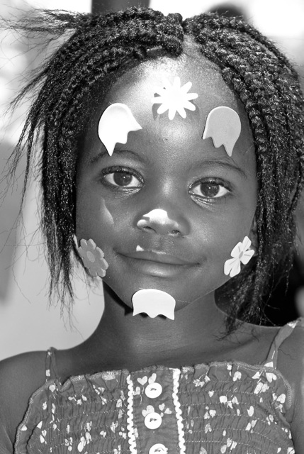 A child supported by WWS in South Africa