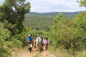 A challenging section of the Waterberg Charity Ride