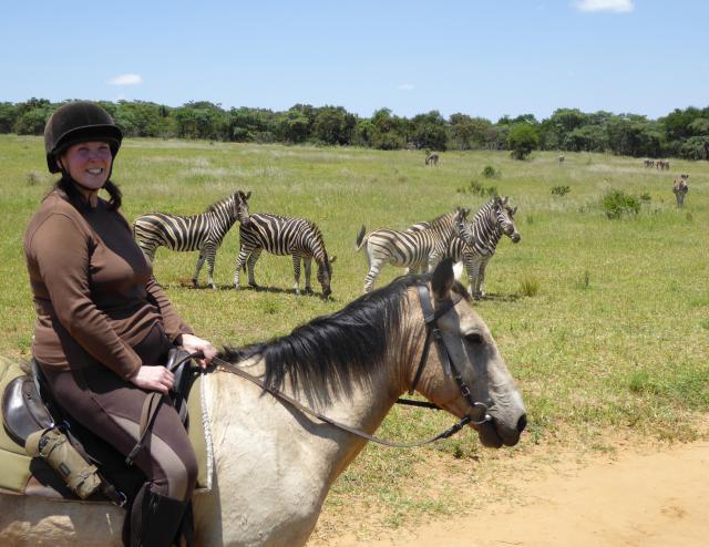 Alex with zebra