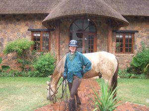Arriving at Jembisa after a long day in the saddle