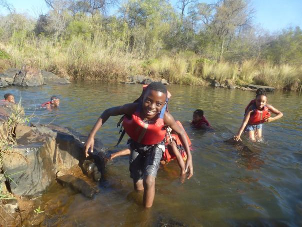 Swimming in the Palala River