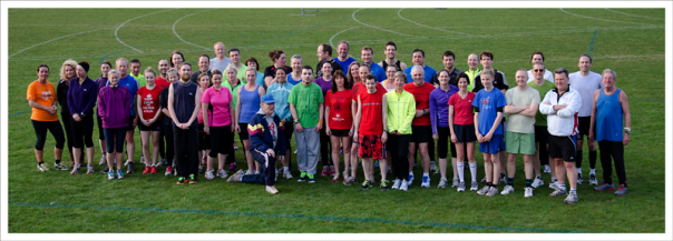 Members of the Tarpley running club