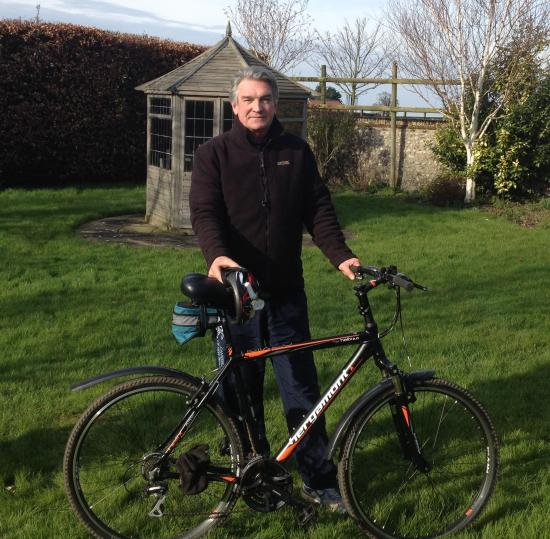 Barry Burles with his new bike