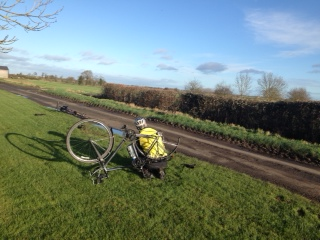 Mending a puncture on the TWT cycle ride