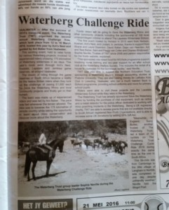 TWT Ride 2016 newspaper article