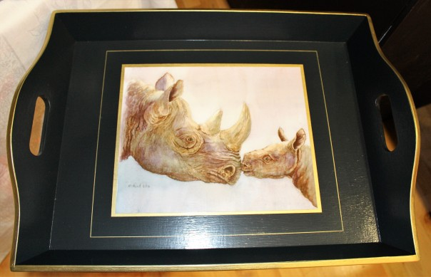 limited-edition-watercolour-of-rhino-on-an-elfinglen-tray