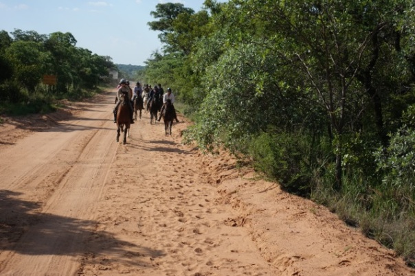 Cantering down the road towards Jembisa