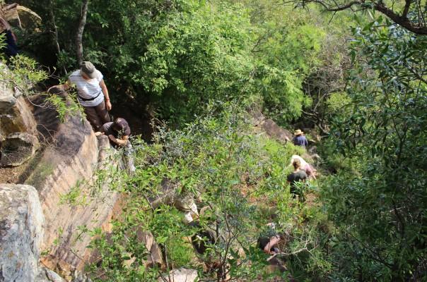 TWT Riders climbing down the escarpment 2017