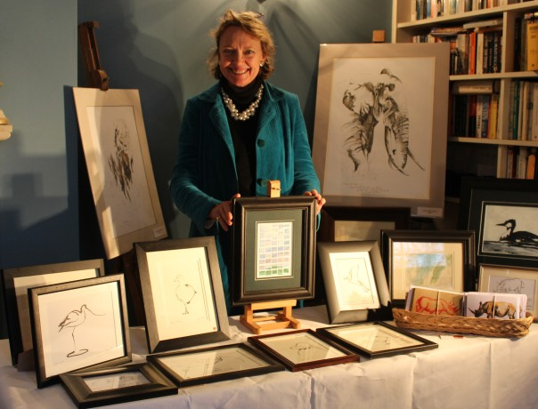 Sophie Neville selling prints in aid of TWT
