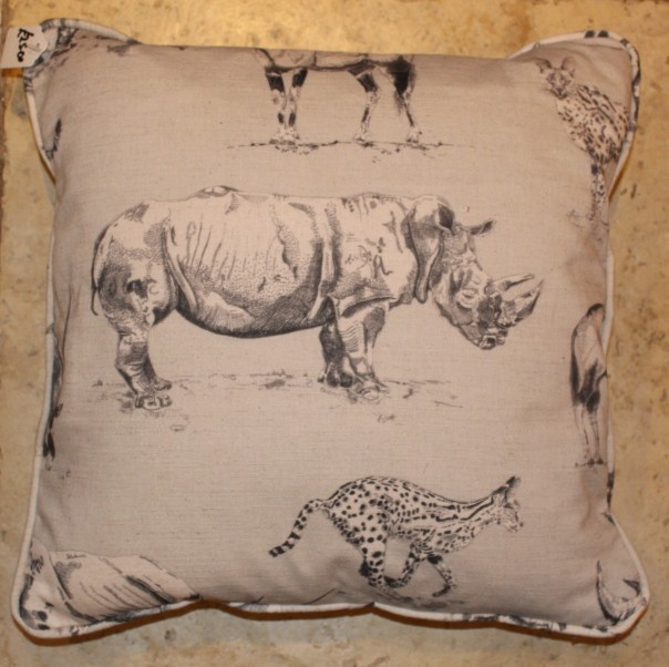 White rhino cushions for TWT