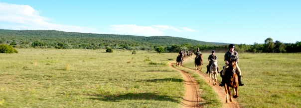 The Waterberg Trust Challenge Ride crossing Lindani game reserve in 2018