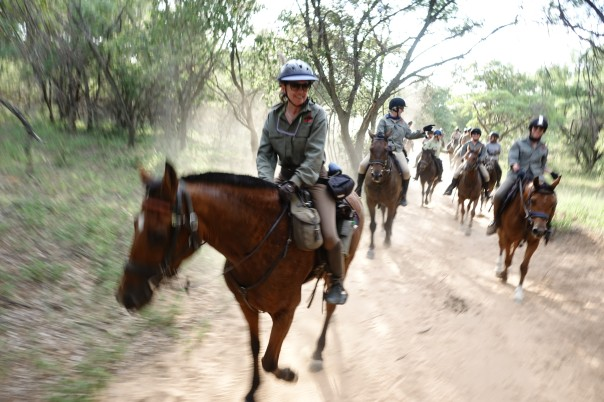 Sophie Neville on the waterberg Trust Challenge Horse Ride 2018