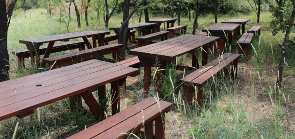 Picnic tables donated by TWT to the Waterberg Living Museum
