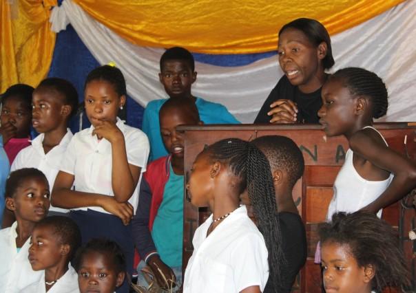 TWT Ride 2018 Nurse Grace speaking at Lethabo Kids Club