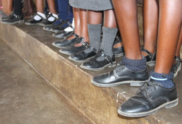 TWt Ride 2018 school shoes purchased with a TWT grant