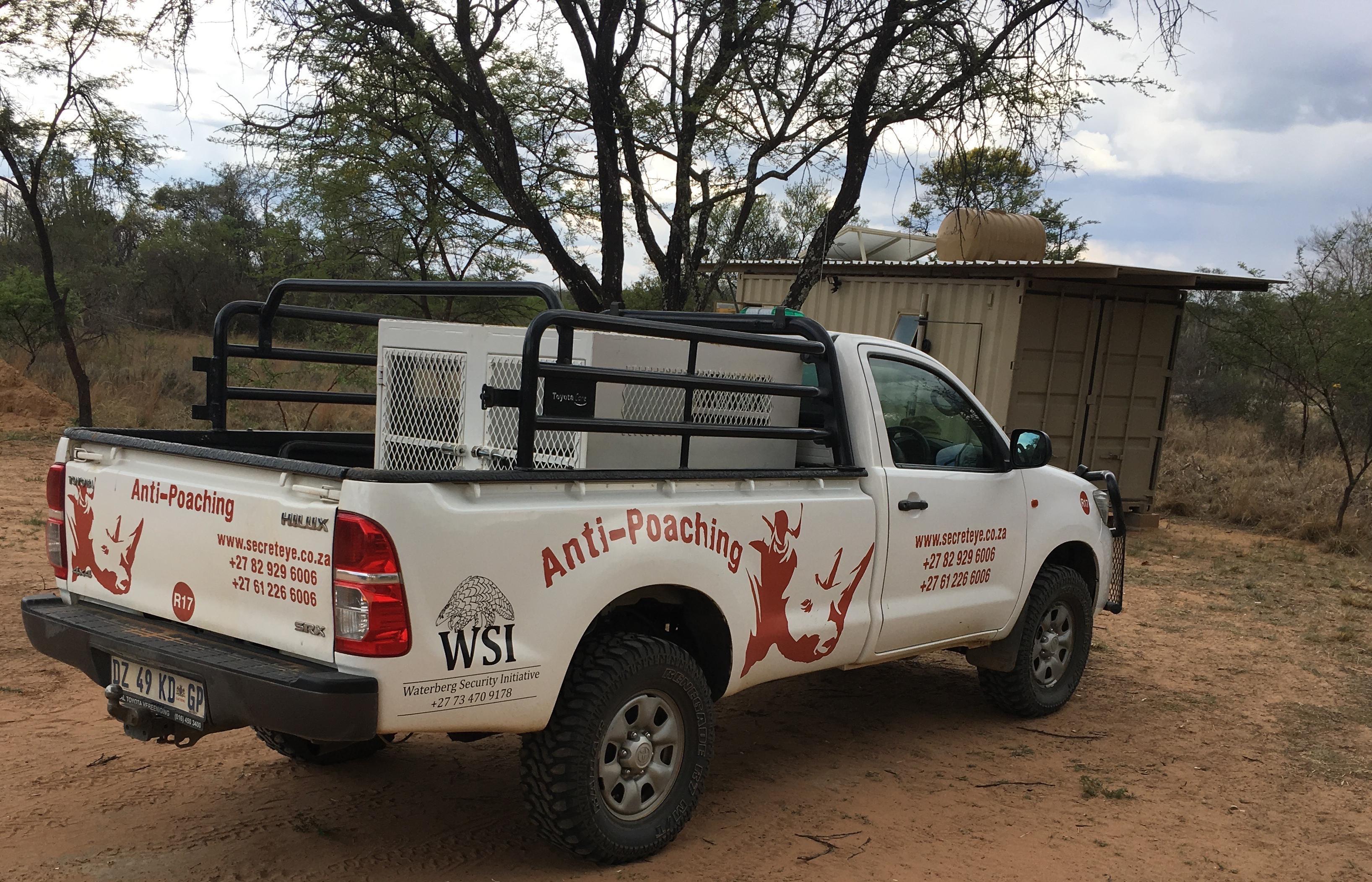 Anti-poaching security continer