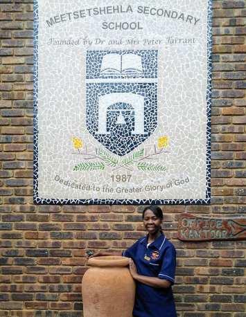 Nurse Grace at Meetsetshehla School in TWT uniform
